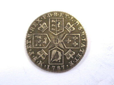 Great Britain Shilling 1787 Silver in  VF Condition, Weight 5.98 Grams #AB