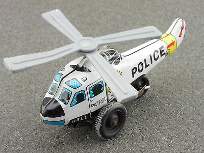 ND Japan Hubschrauber Helicopter Police Blech tin litho toy 1604-25-20