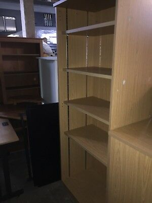 Beech Bookcase Shelves Storage Office Furniture