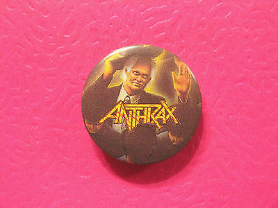 Anthrax Vintage Button Badge Pin Not Patch Shirt Poster Cd Lp Uk Import
