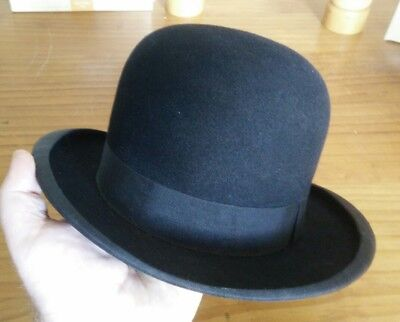 "Vintage FAYREFIELD Fur Felt Bowler Hat - Excellent cond. Small size (5 1/2""?)"