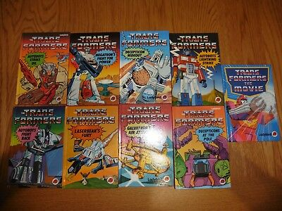 Ladybird Vintage 80's Transformers children's picture books all 1st Edition Exce