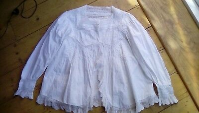 Vintage French cotton and lace small hand made chemise/ shirt