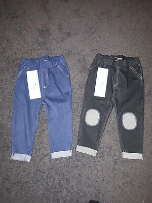 Unisex Boys/Girls Infant Pants/Leggings Size 1 - 2 pairs - new with tags