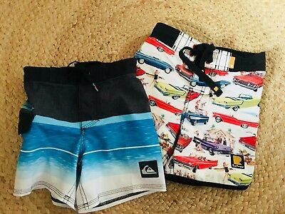 Quiksilver and Rock Your Kid boardies 4-5