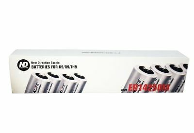 New Direction Tackle a set of 8 batteries ER14250M For K9 R9 TH9, Brand New,