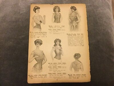 Antique Catalogue Page - Corsetry