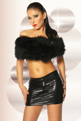 Wetlook Mini Rock Minirock Lack PVC Skirt Gr. S/M oder L/XL (a 11858 )
