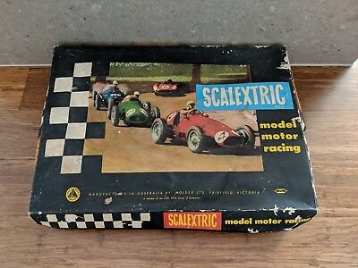 Vintage Scalextric Model Motor Racing - Bulk Track + 2 Cars + 3 Controllers