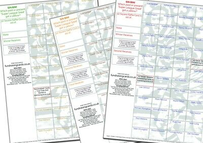 Scratch Cards 1 x A2 `Last Minute Try` Rugby Union Fundraising Raffle Tickets
