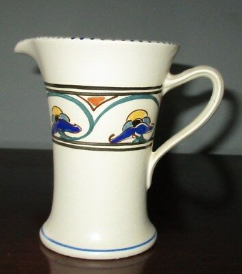 "Honiton Pottery Devon ""Weston"" Jug - 10.5cm Tall - Art Deco Shape"