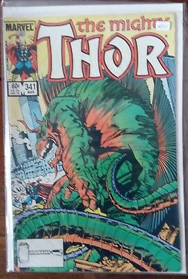 Marvel Comics - Mighty Thor #341 -  Bronze Age