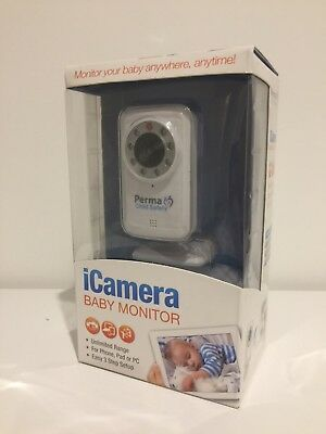 PERMA ICamera Baby Monitor Wireless or Wired App or IOS smatphone pad or PC BNIP