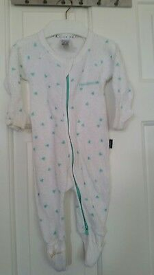 EUC Bonds 000 mint triangle poodlette zippy zip jumpsuit terry towel
