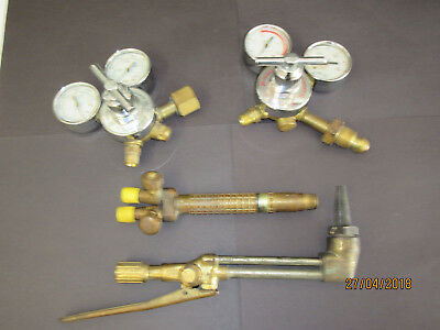 Vintage Airco Acet - Oxy Regulators & 5790 Torch Head -Steampunk-Metal Art