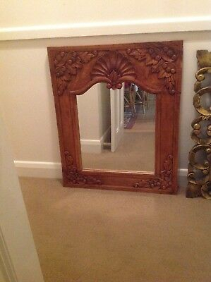 Beautiful wooden carved mirror.