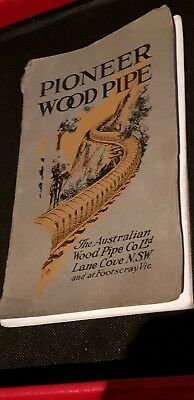 Pioneer Wood Pipe Catalogue - 1925
