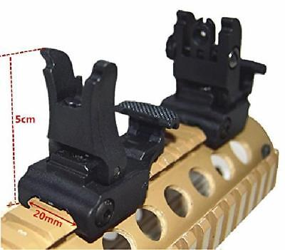 HWZ 2017 New Front and Rear Sight for AR-15 M16 Flat Top Rifles Low Profile Flip