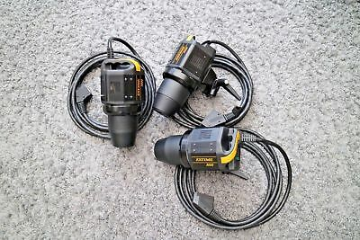Bowens Studio Flash Estime 3000  3k heads with Reflectors Great condition