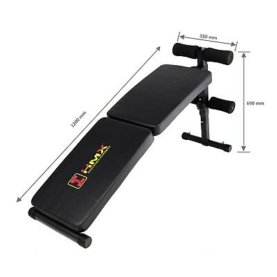 Sit Up Bench Press Adjustable Home Gym Weight Fitness Incline Resistance Band HM
