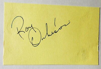 """Roy Orbison Hand Signed Autograph Album Page By The Rock Legend - """"the Big O"""""""