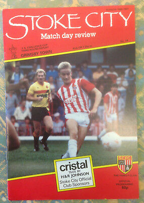 1986/87 Stoke City v Grimsby Town - FA Cup 3rd Round Replay