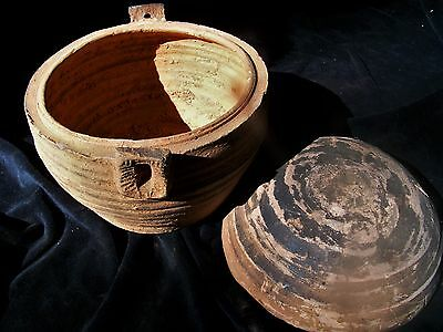 """orig $499-HAN CRYPT BURIAL BOWL-WOW!!, NEOLITHIC 12"""""""