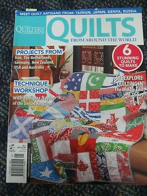 AUST QUILTERS COMPANION MAG #1 Spec Edn QUILTS AROUND THE WORLD 6  fish