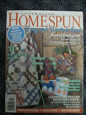 AUST HOMESPUN MAG #61 Primitive Pet Dog Cat Boys Monster Truck Angel Quilt Bag