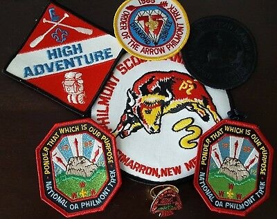 Philmont Scout Ranch Lot (OA 1985) 6 Patches and a slide