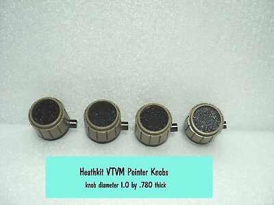 (4) HeathKit Pointer Selector Knobs for VTVM