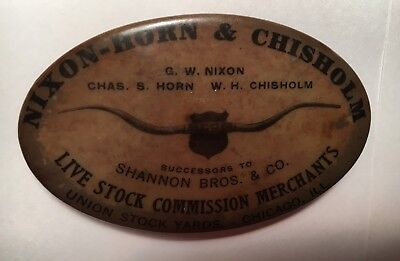 Nixon- Horn-Chisholm Live stock Commission Sharpener. Union Stock Yards, Chicago