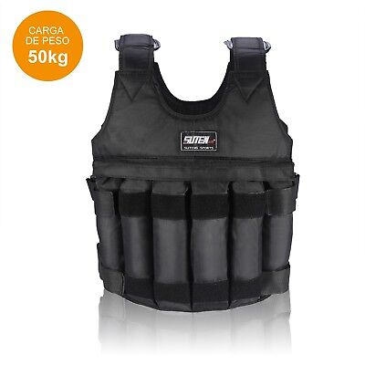 20kg/50kg Adjustable Max Load Weighted Vest / Jacket Exercise Training Waistcoat