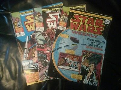 Star Wars Weekly Marvel comic issues 5, 6 & 7 March 1978 PLUS issue 70 June 1979