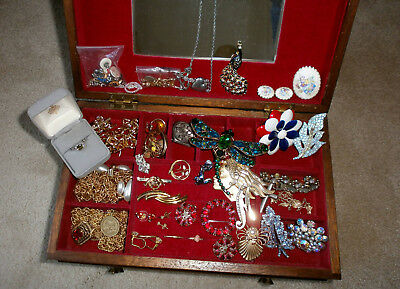 Junk Drawer Lot Costume Jewelry Mixed Lot