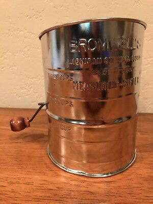 Bromwell's 3 Cup measuring sifter - Never Used But Has Some Shelf Wear