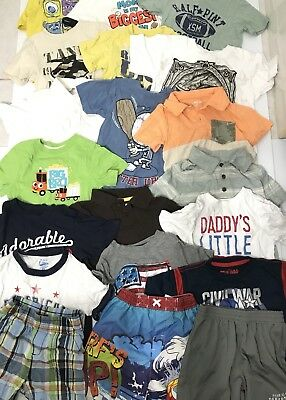 3t Boys Summer Shirts Lot, Old Navy, Children's Place ,Disney 17 Shirts 2 Shorts