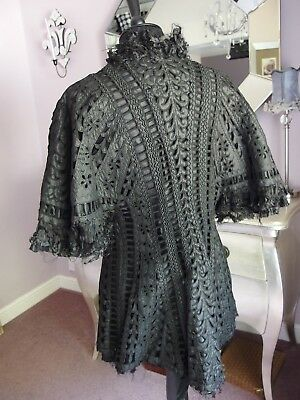 Antique jacket exquisite cut work embroidery detail