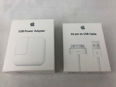 OEM Original 12W USB Adapter Wall Charger 30 Pin USB cable for Apple iPad 1 2 3