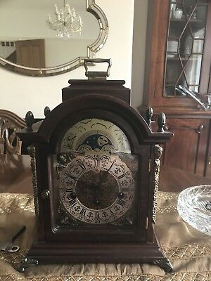 Chiming Bracket Clock With HERMLE MOVEMENT and Moon Face