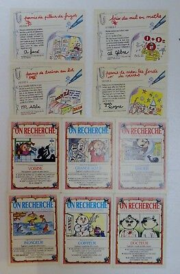 Lot de 10 revers de cartes Les CRADOS - 1985 -Très bon Etat - Pas de stickers