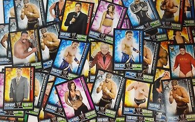 Lot +50 cartes SLAM ATTAX - LOT 1 WWE trading card Topps TBE - Expédition rapide