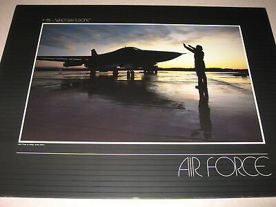 """General Dynamics F-111 Aardvark """"When Day is Done"""" USAF photo"""