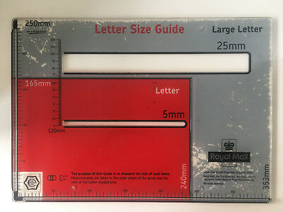 Royal Mail Letter Postal Template Size Guide Postage Package Ruler Post