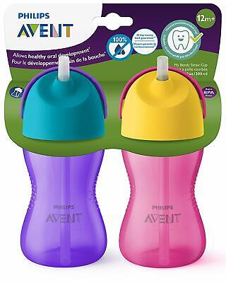 Philips Avent My Sip N Click Baby Bottle and Cup 12oz 2pk Mixed Easy to Clean