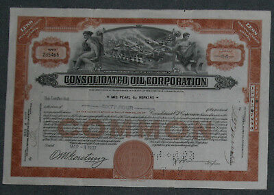 Consolidated Oil Corporation 1937  64 Shares .