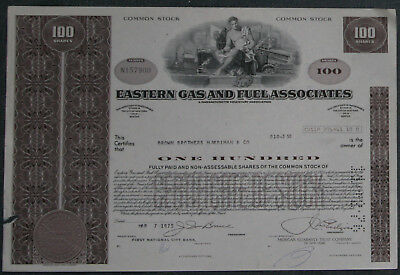 Eastern Gas and Fuel Associates 1975 100 Shares .