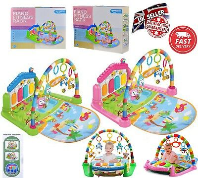 3 in 1 Fitness Baby Gym Play Mat Lay & Play Music And Lights Fun Piano