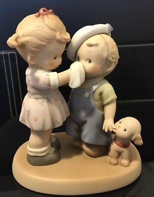 Enesco Memories of Yesterday A Little Caring Makes Everything Better Figurine