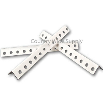 "Pack of 10, White Powder Coated 1-1/4"" x 1-1/4"" x 8' 3"", 12Ga. Perforated Angle"